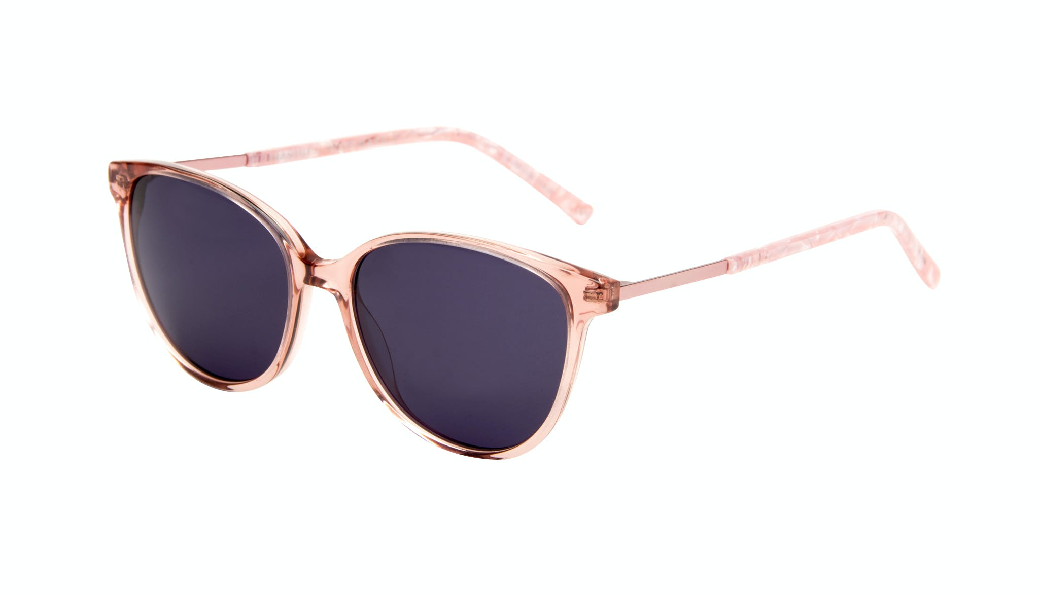 Affordable Fashion Glasses Cat Eye Sunglasses Women Imagine II Rose Marble Tilt