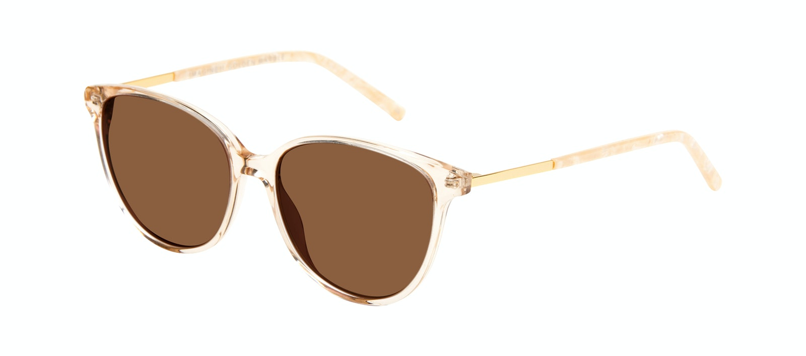 Lunettes tendance Oeil de chat Lunettes de soleil Femmes Imagine II Golden Marble Incliné