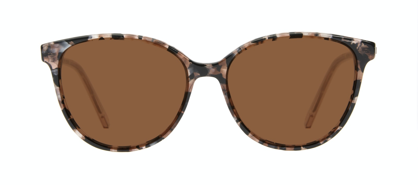 Affordable Fashion Glasses Round Sunglasses Women Imagine II Pink Tortoise Front