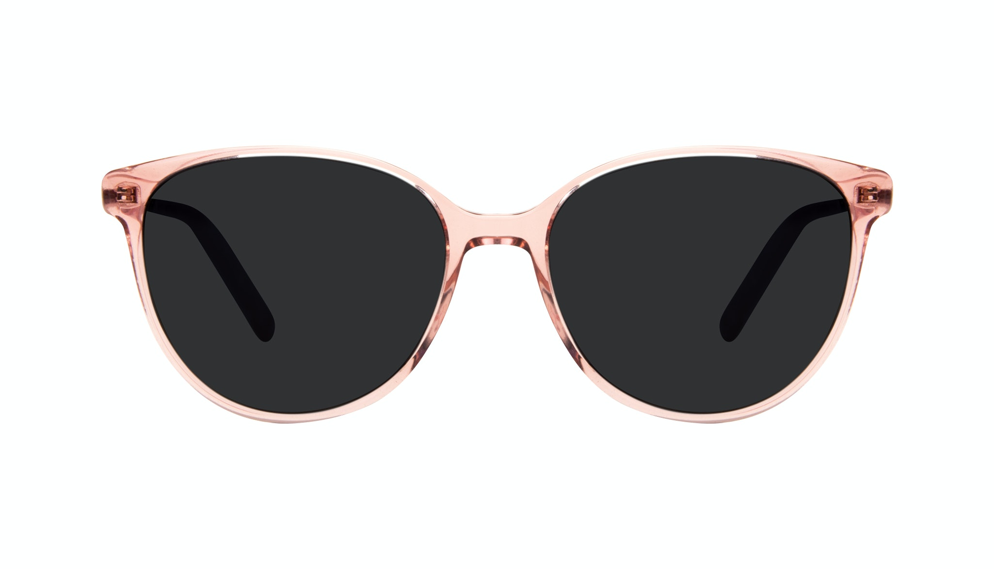 Affordable Fashion Glasses Round Sunglasses Women Imagine II Rose Marble