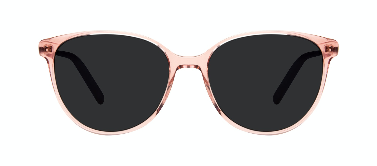 Affordable Fashion Glasses Round Sunglasses Women Imagine II Rose Marble Front