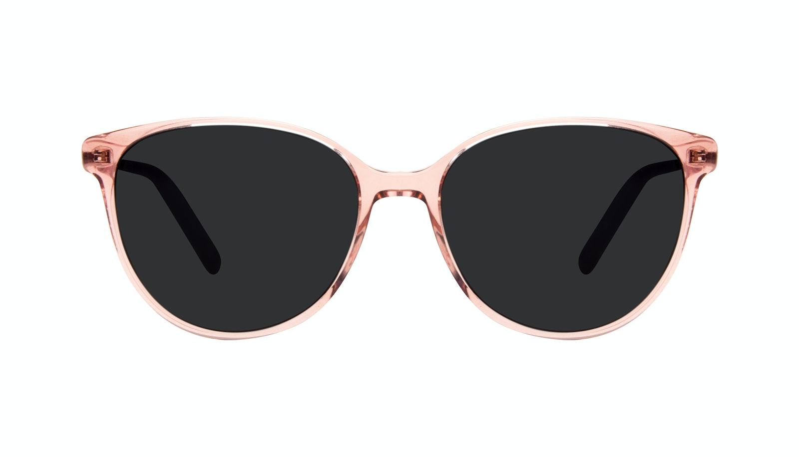 Affordable Fashion Glasses Round Sunglasses Women Imagine II Rose Marble
