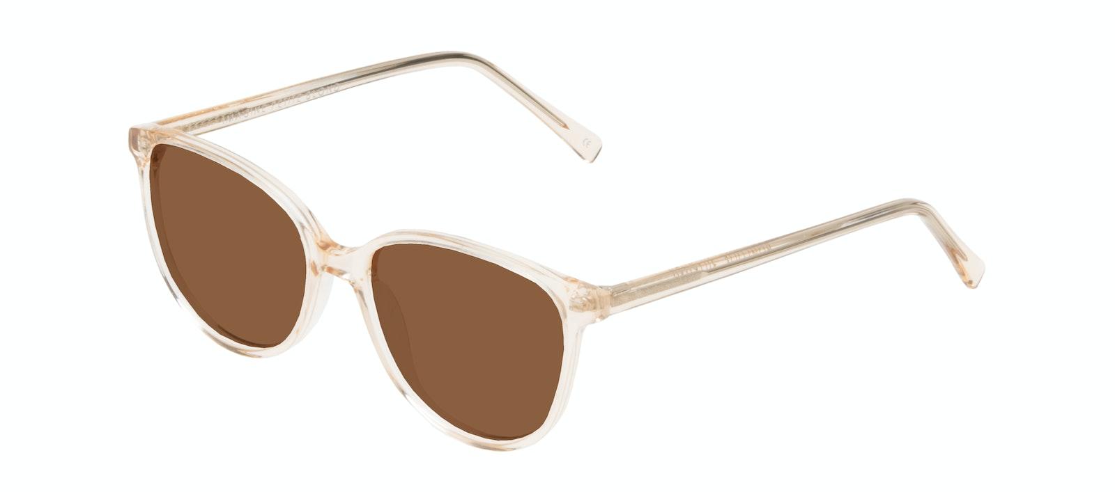 Affordable Fashion Glasses Round Sunglasses Women Imagine Petite Blond Tilt