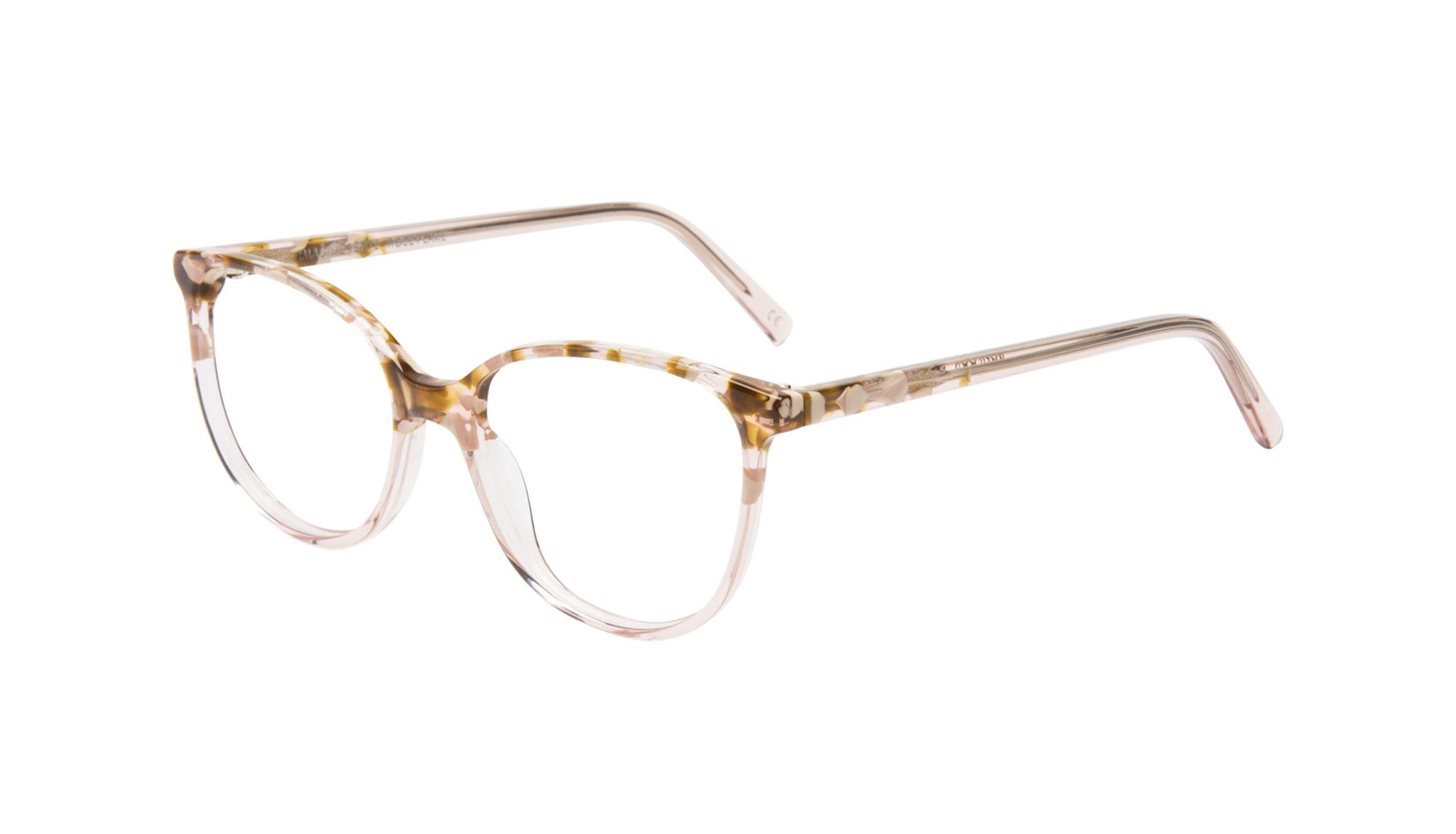 Affordable Fashion Glasses Round Eyeglasses Women Imagine Petite Rose Flake Tilt