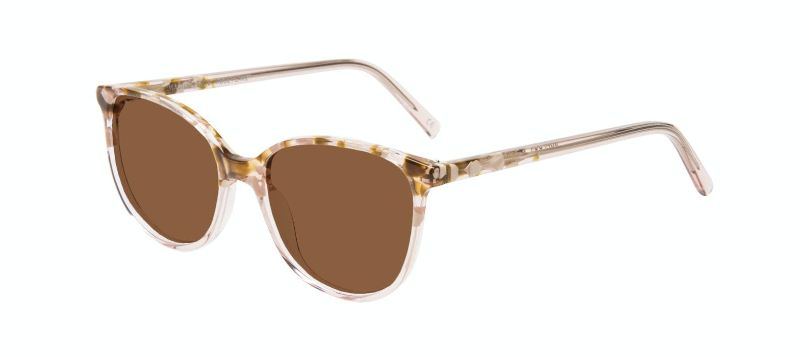 Affordable Fashion Glasses Round Sunglasses Women Imagine Petite Rose Flake Tilt