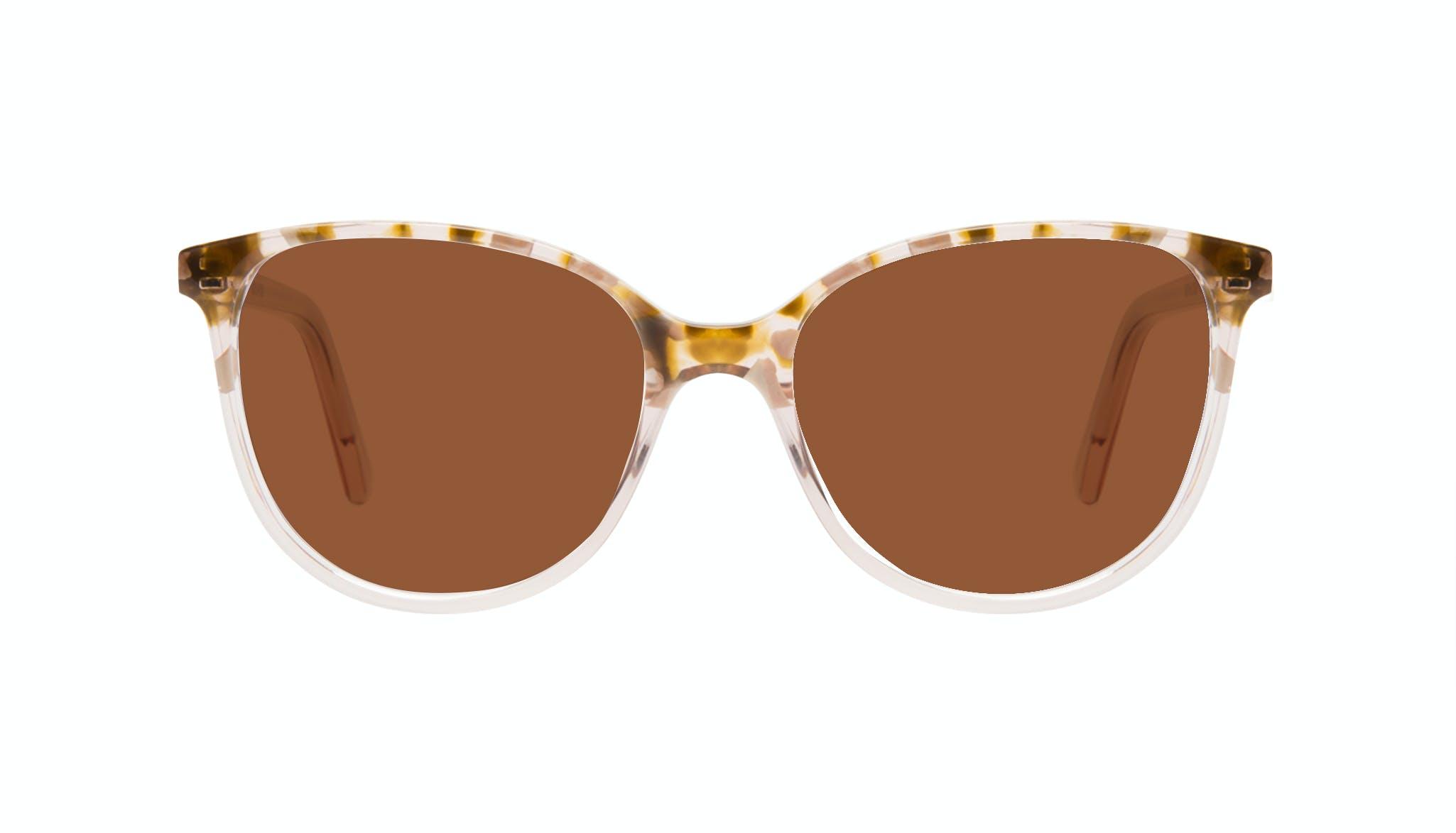 Affordable Fashion Glasses Round Sunglasses Women Imagine Petite Rose Flake