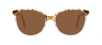 Affordable Fashion Glasses Round Sunglasses Women Imagine Petite Rose Flake Front