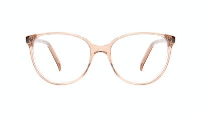 Affordable Fashion Glasses Round Eyeglasses Women Imagine Petite Rose Front