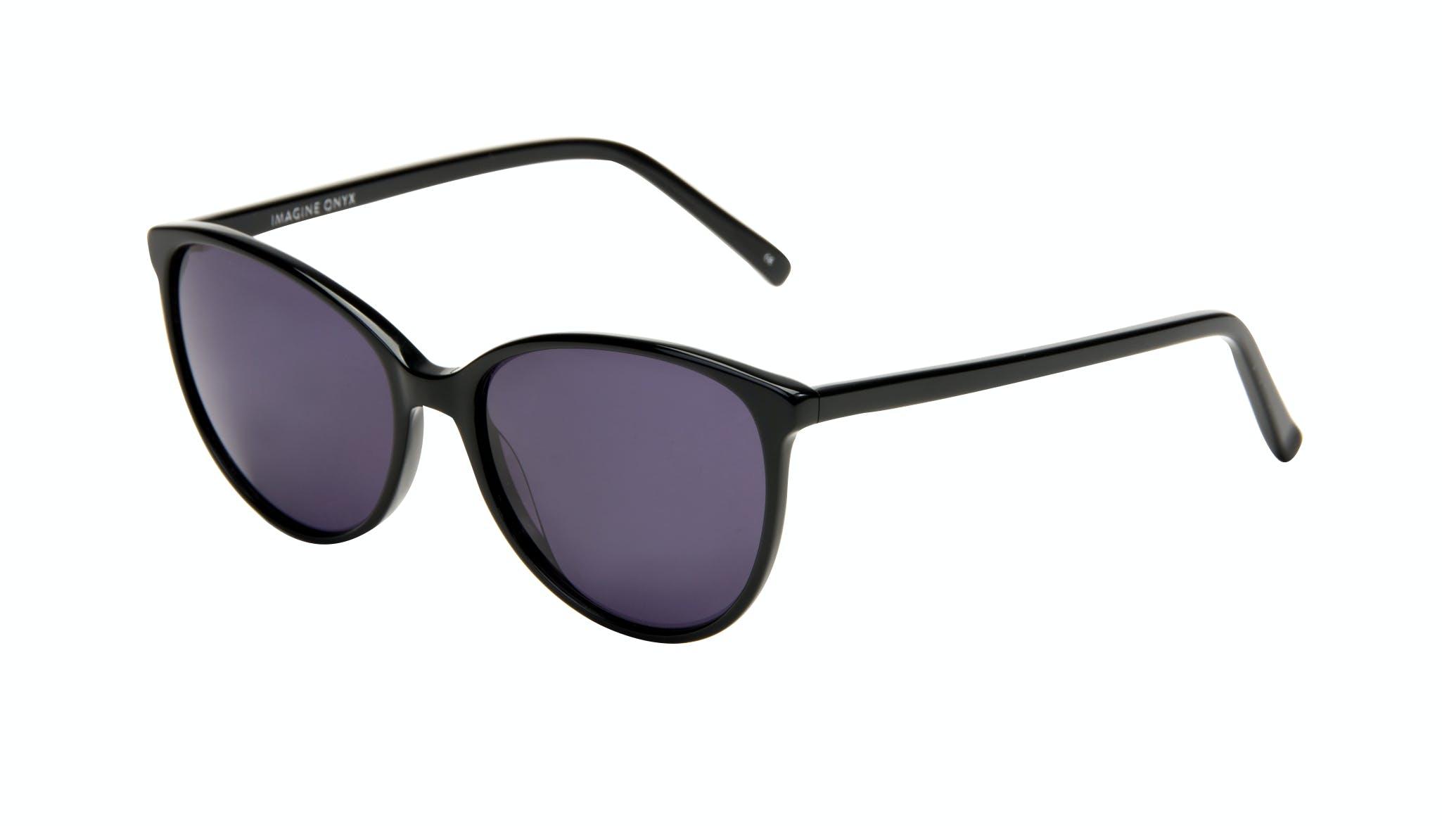 Affordable Fashion Glasses Cat Eye Round Sunglasses Women Imagine Onyx Tilt