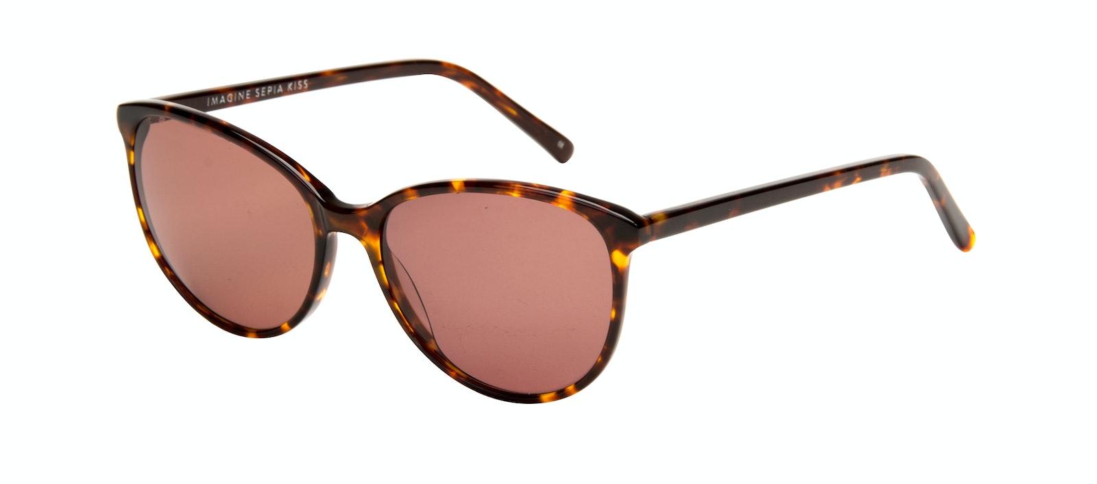 Affordable Fashion Glasses Round Sunglasses Women Imagine Sepia Kiss Tilt