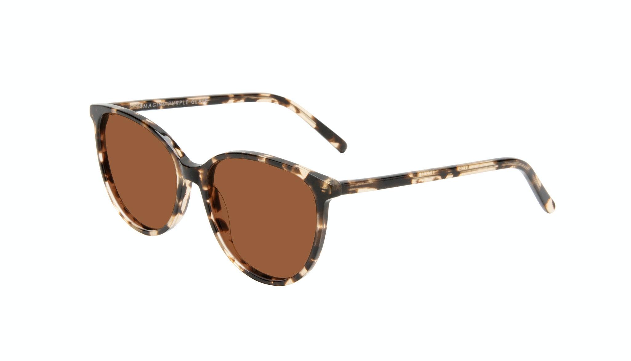 Affordable Fashion Glasses Round Sunglasses Women Imagine Purple Glaze Tilt