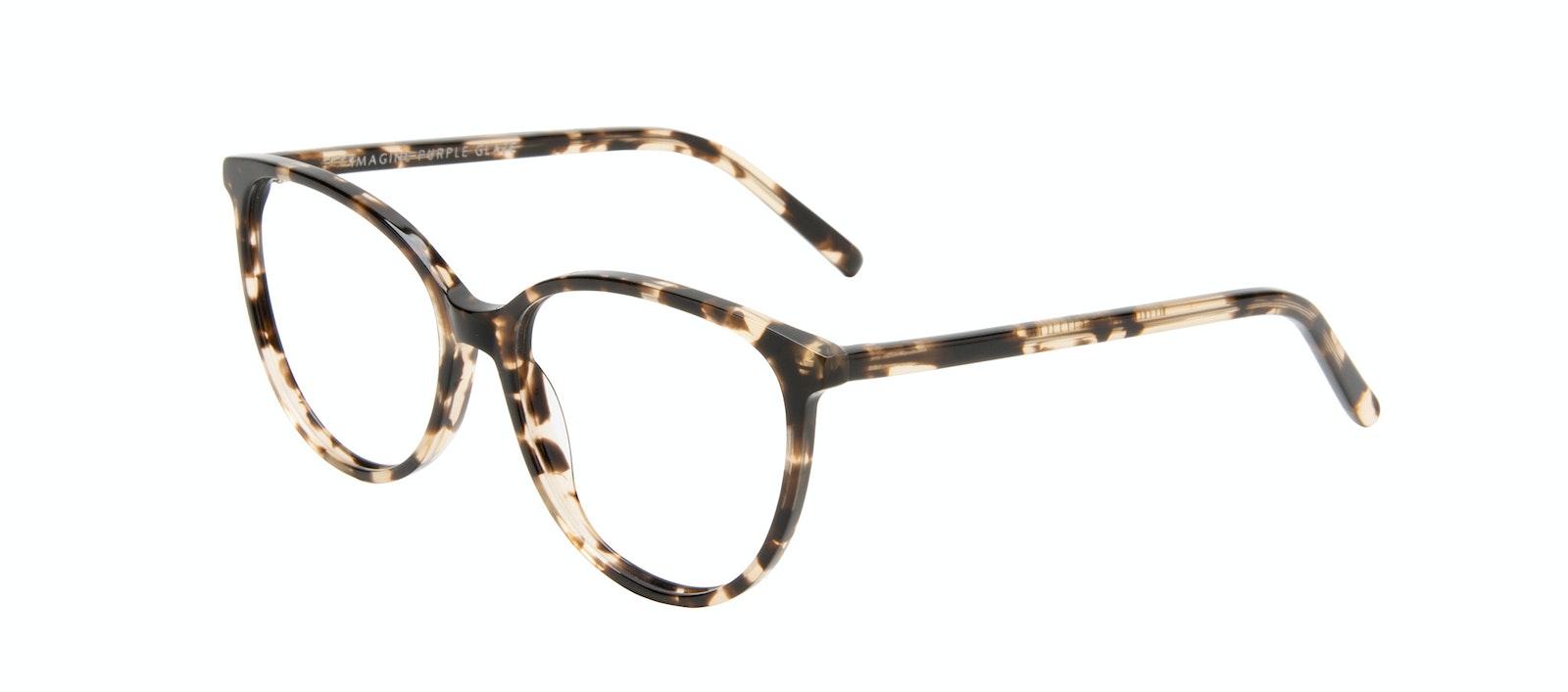 Lunettes tendance Oeil de chat Lunettes de vue Femmes Imagine Leopard Incliné