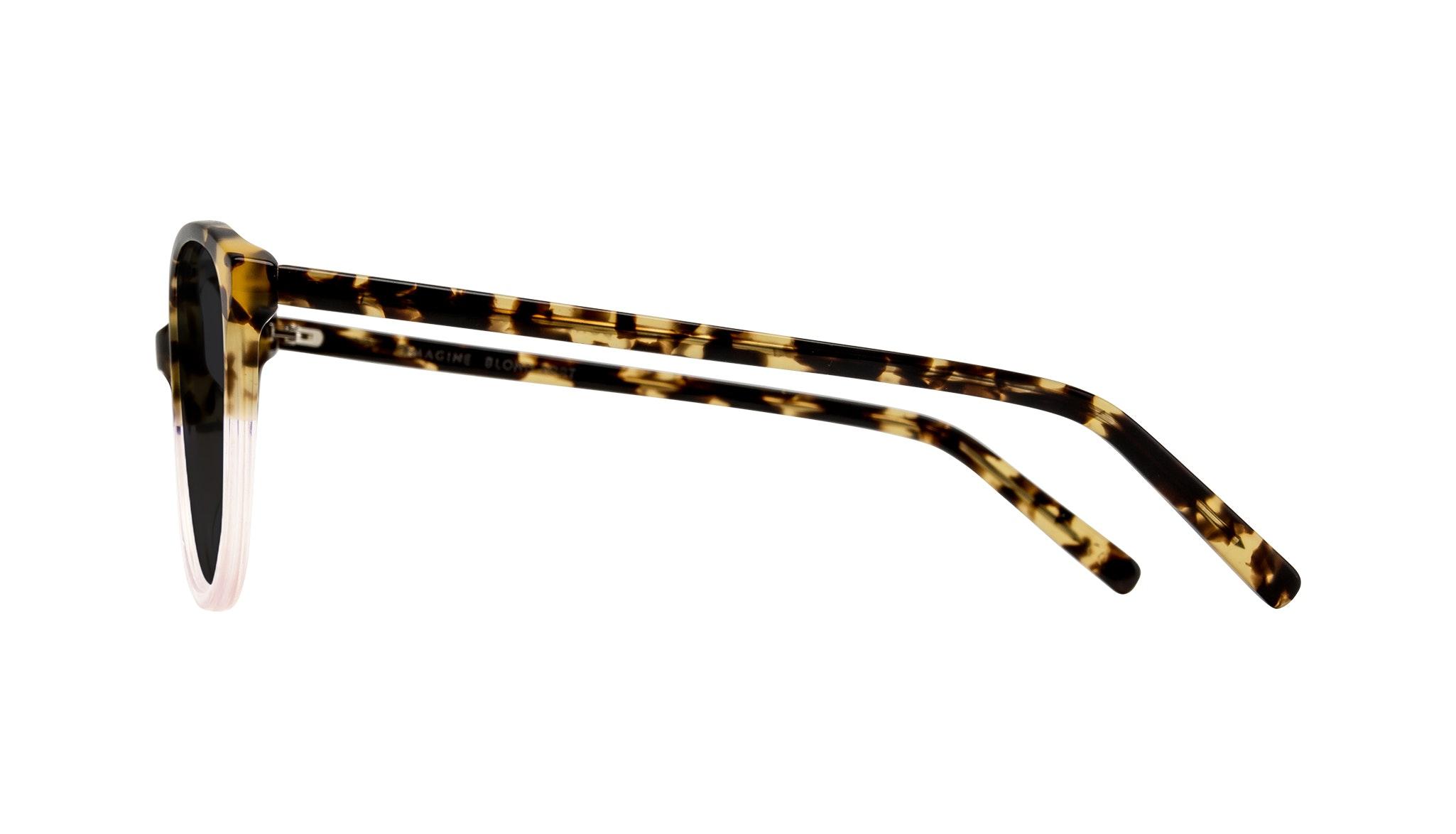 Affordable Fashion Glasses Round Sunglasses Women Imagine Blond Tort Side
