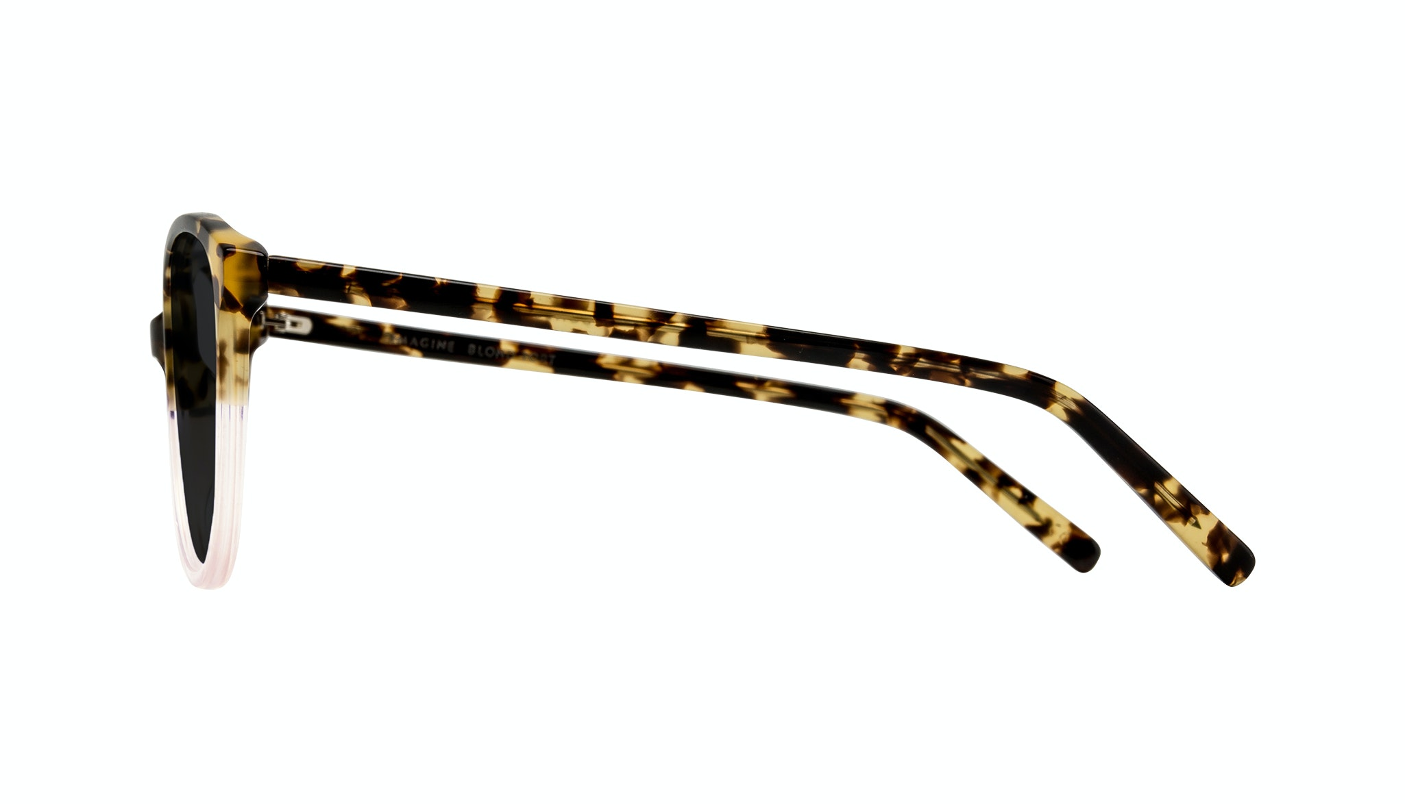 Affordable Fashion Glasses Cat Eye Round Sunglasses Women Imagine Blond Tort Side