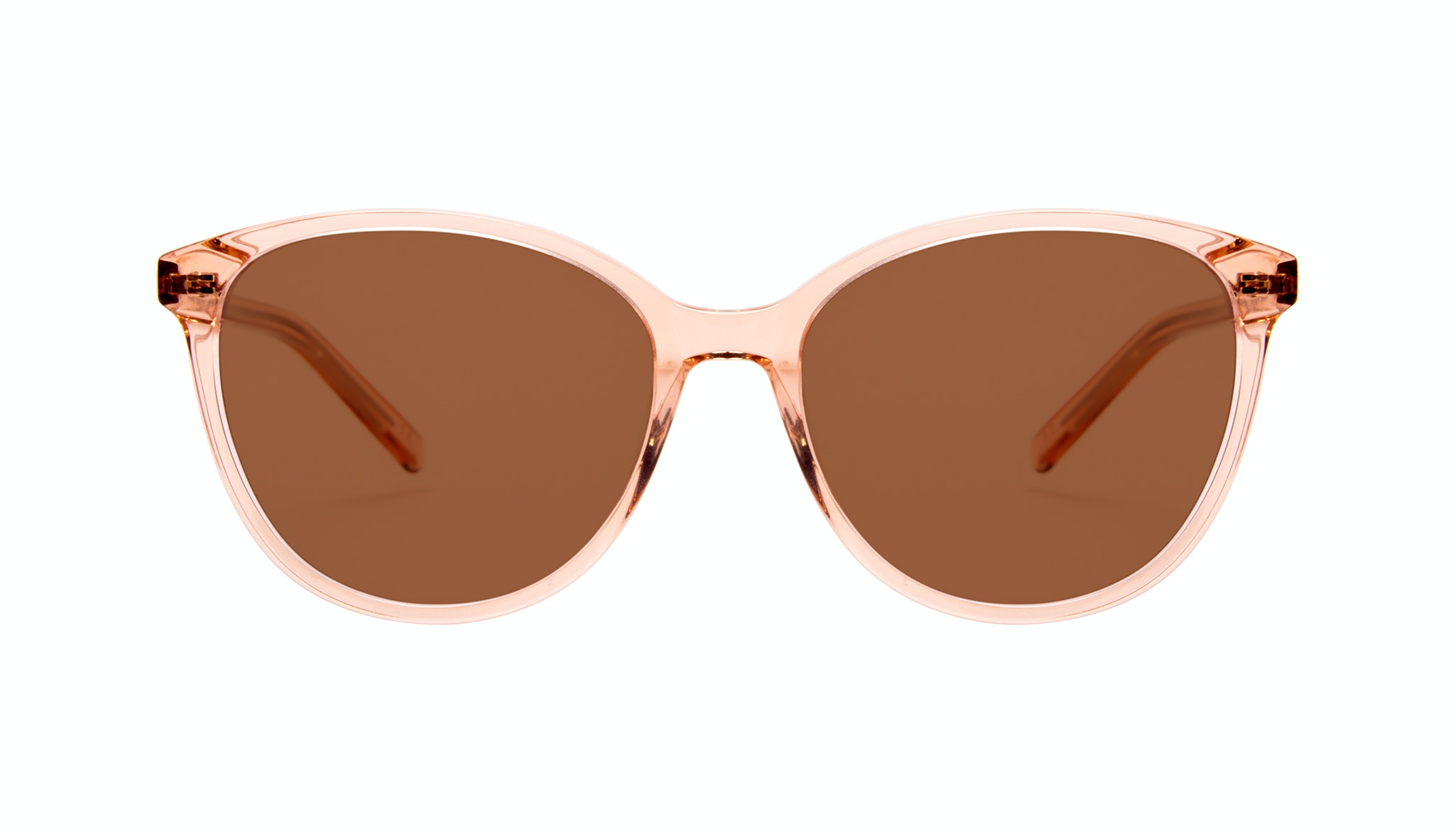 Affordable Fashion Glasses Cat Eye Round Sunglasses Women Imagine Peach
