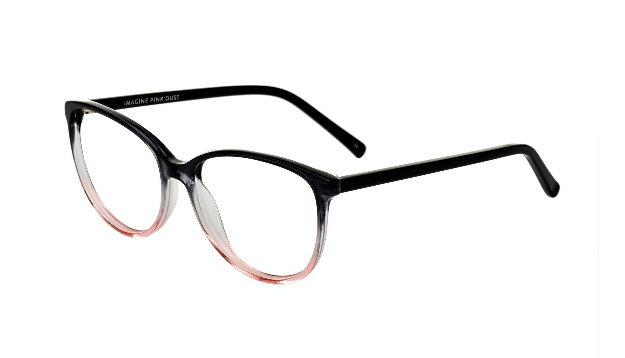 Affordable Fashion Glasses Cat Eye Round Eyeglasses Women Imagine Pink Dust Tilt