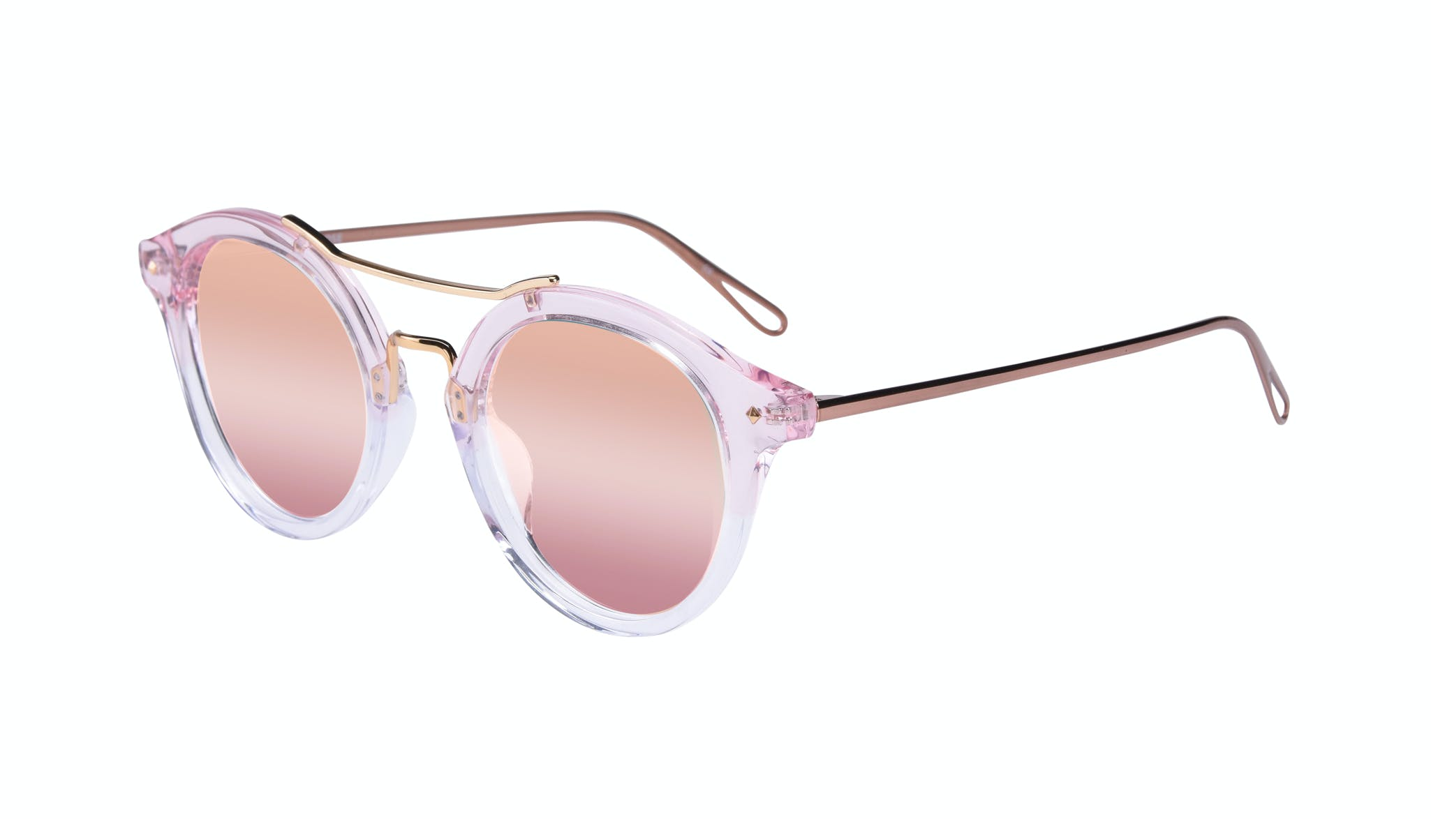 Affordable Fashion Glasses Round Sunglasses Women Infinite Rose Tilt