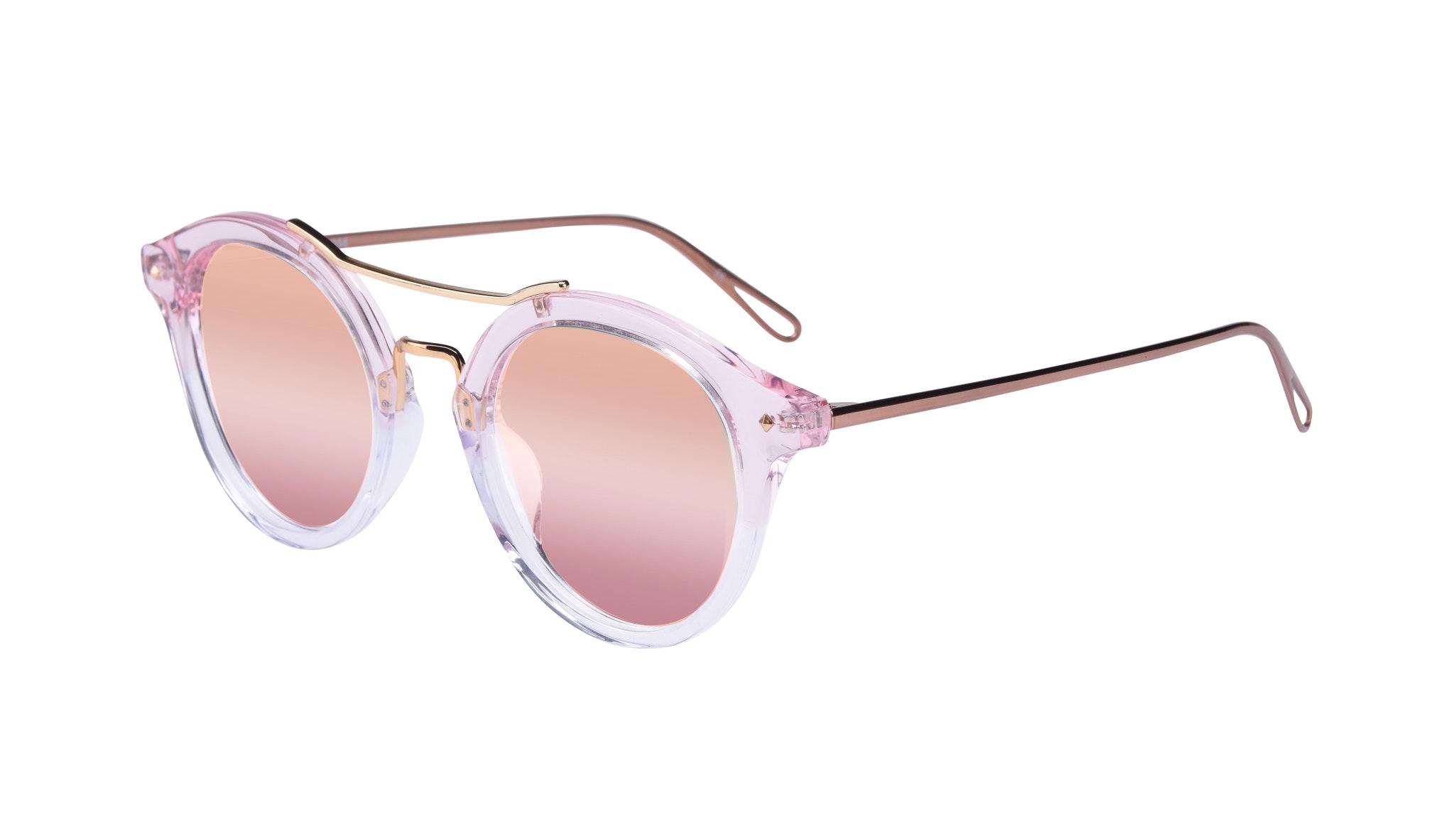 Affordable Fashion Glasses Round Sunglasses Women Infinite Rose Tilt