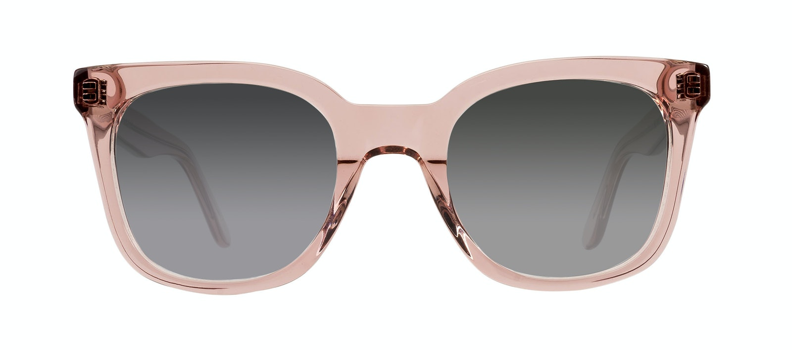 Affordable Fashion Glasses Rectangle Square Sunglasses Women Jack & Norma Rose Front
