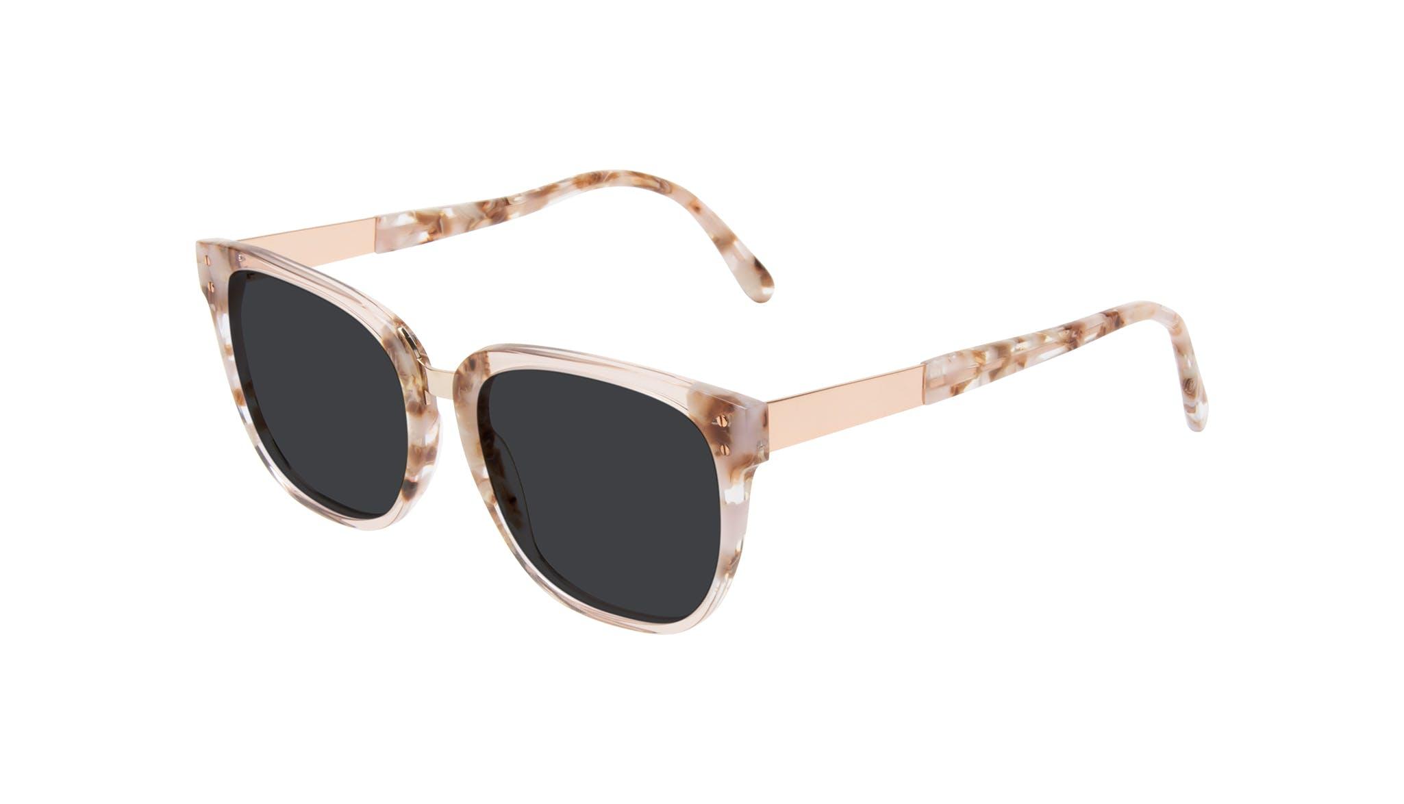 Affordable Fashion Glasses Square Sunglasses Women James Dusty Rose Tilt