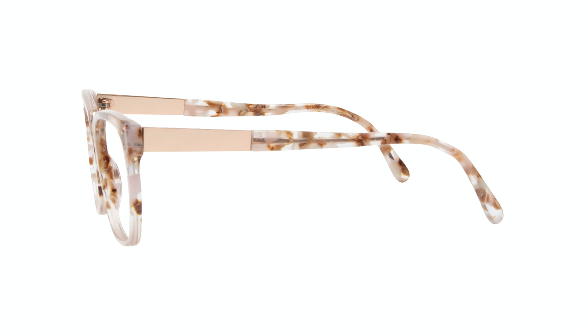 Affordable Fashion Glasses Square Eyeglasses Women James Dusty Rose Side