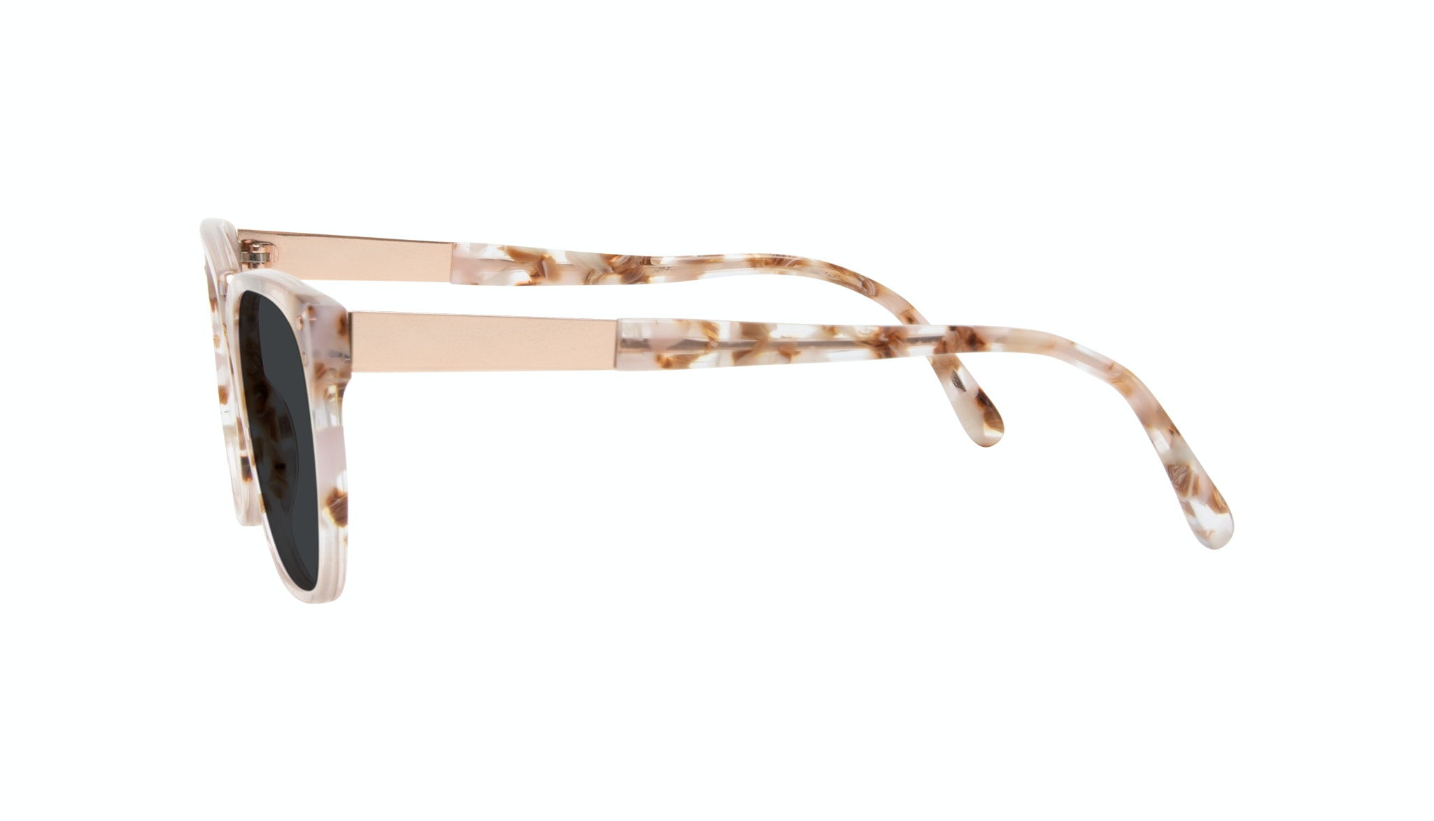 Affordable Fashion Glasses Square Sunglasses Women James Dusty Rose Side