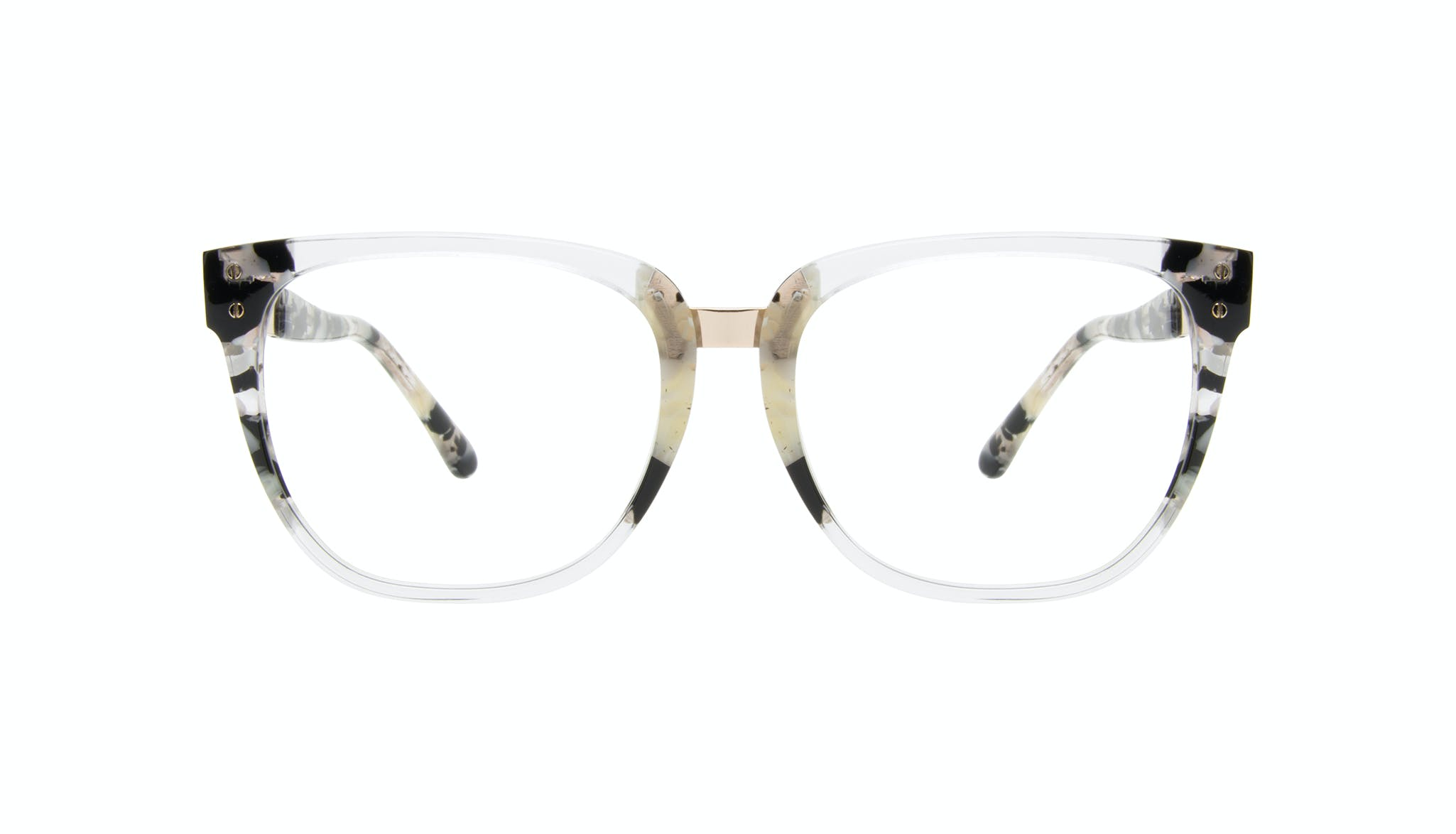 Affordable Fashion Glasses Square Eyeglasses Women James Goldtone