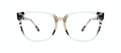 Affordable Fashion Glasses Square Eyeglasses Women James Goldtone Front
