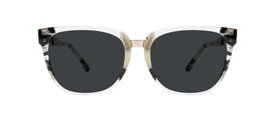 Affordable Fashion Glasses Square Sunglasses Women James Goldtone Front