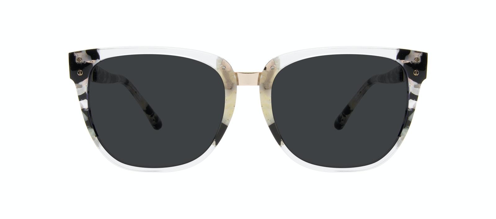 Affordable Fashion Glasses Square Sunglasses Women James Goldtone Front