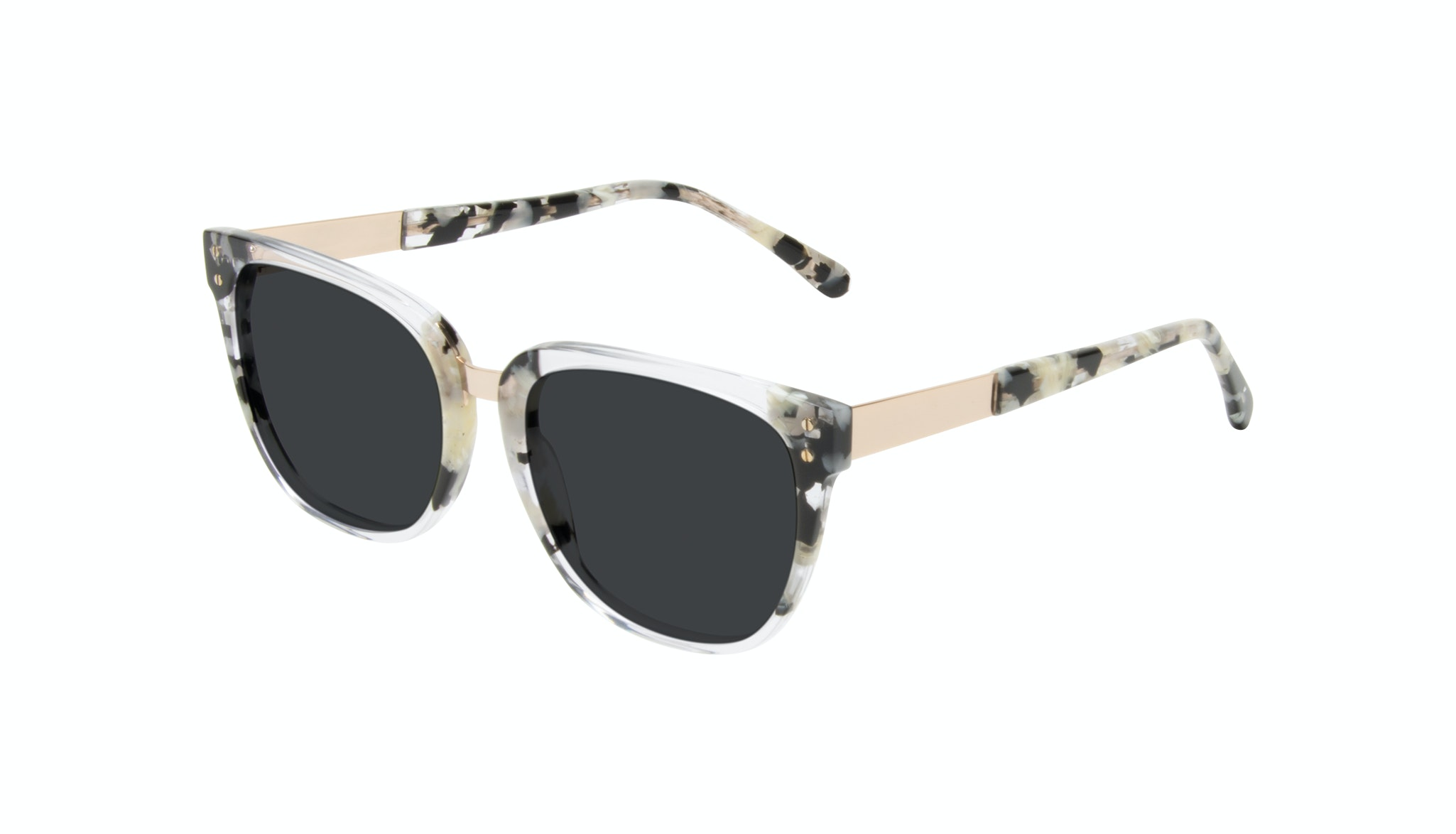 Affordable Fashion Glasses Square Sunglasses Women James Goldtone Tilt
