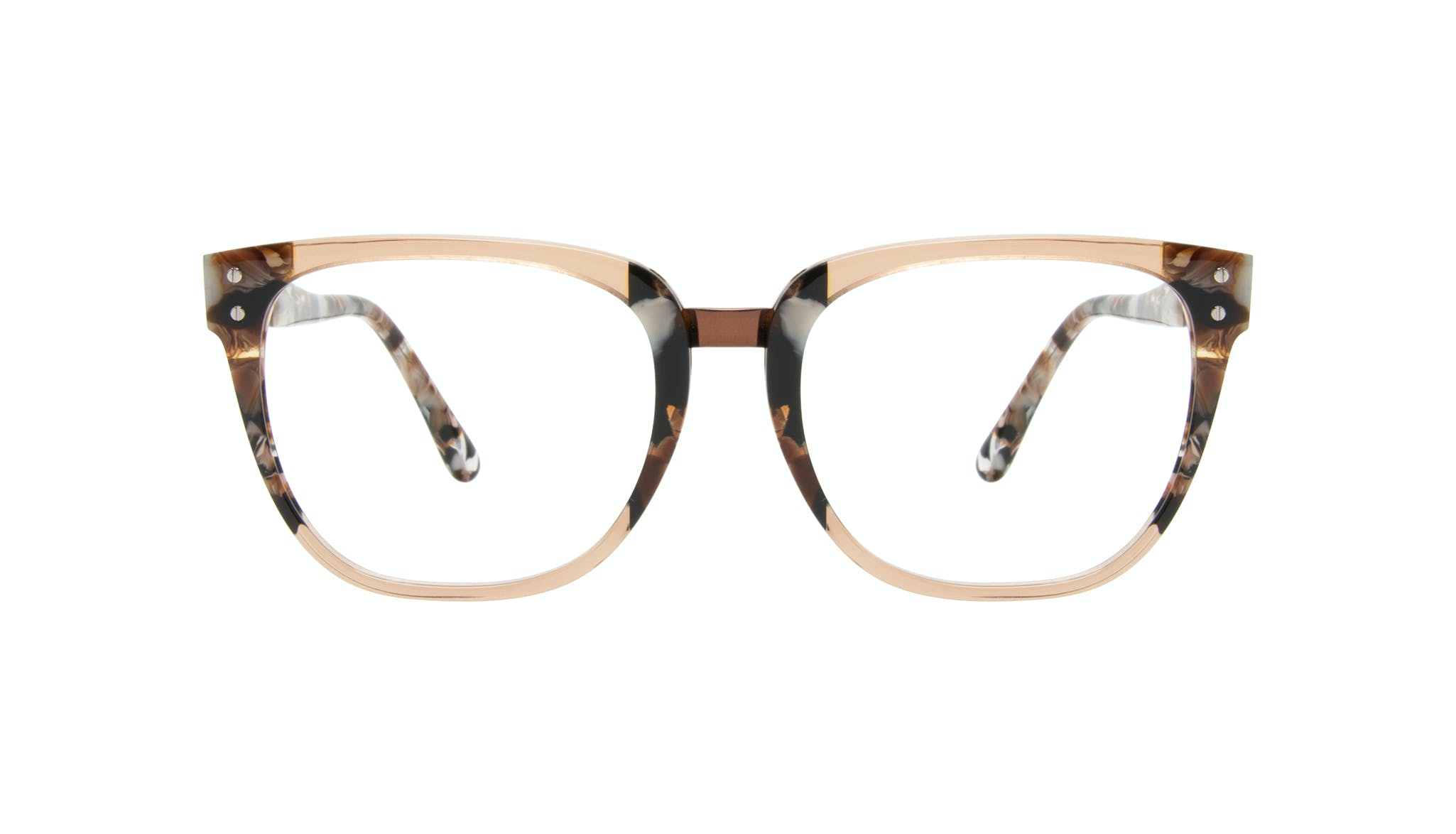 Affordable Fashion Glasses Square Eyeglasses Women James Toffee Marble Front