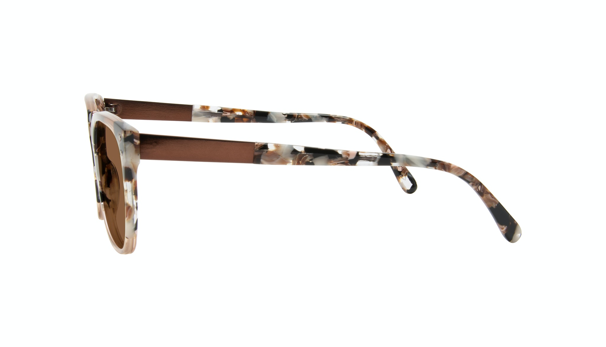 Affordable Fashion Glasses Square Sunglasses Women James Toffee Marble Side
