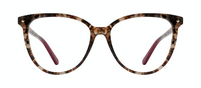 Affordable Fashion Glasses Round Eyeglasses Women Jane Pink Tortoise Front