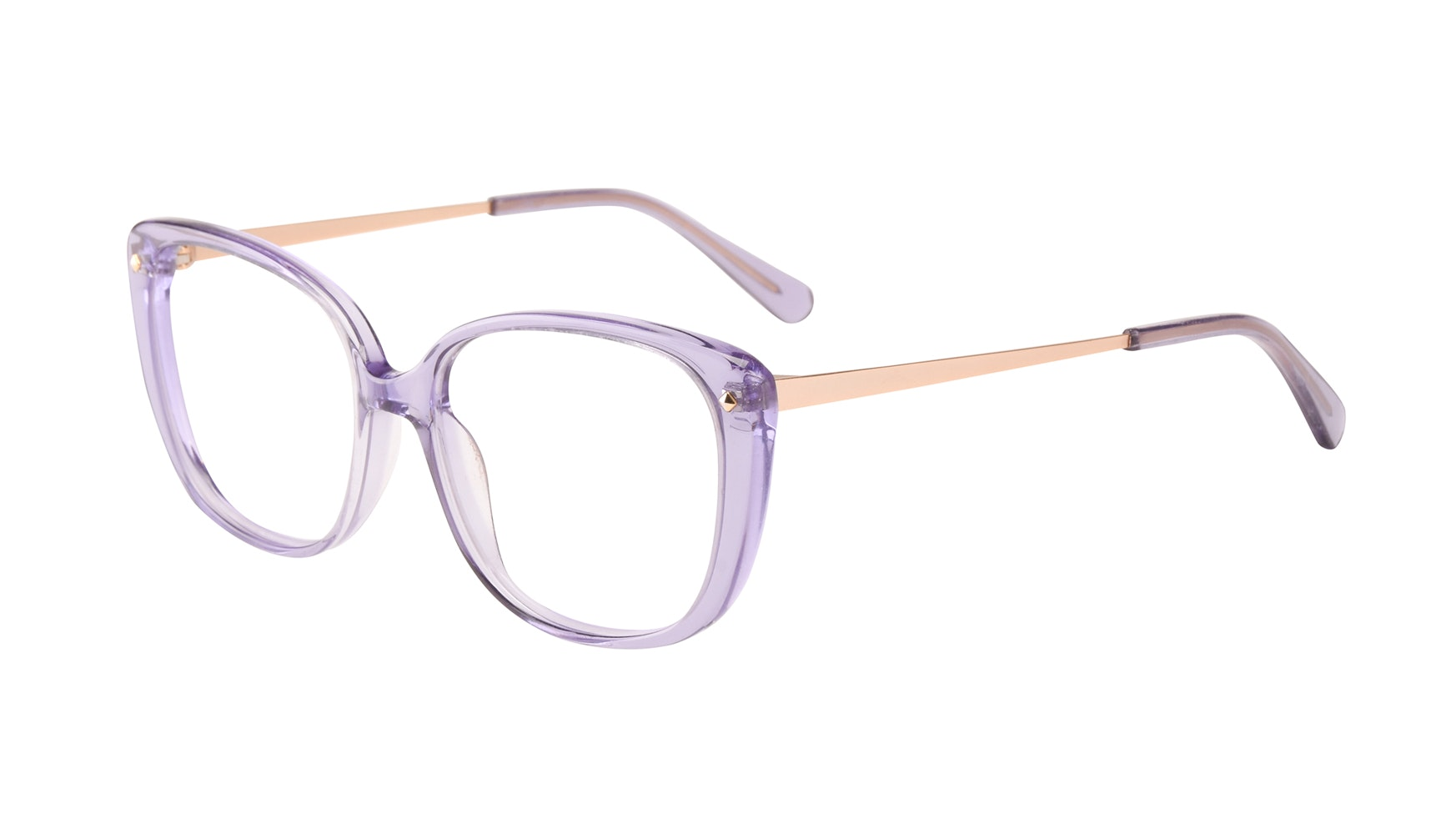 Affordable Fashion Glasses Square Eyeglasses Women Japonisme Lavender Tilt
