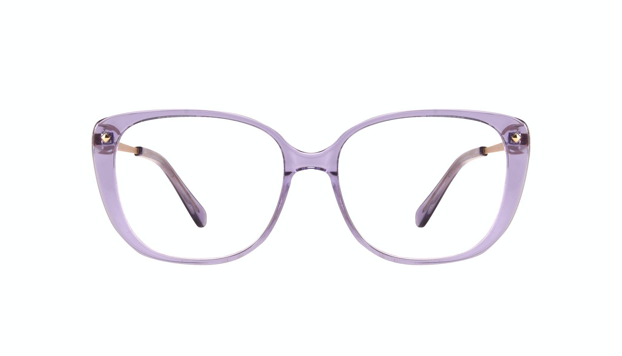 Lunettes tendance Carrée Lunettes de vue Femmes Japonisme Lavender Face