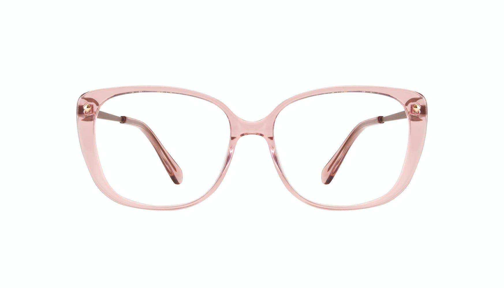 Lunettes tendance Carrée Lunettes de vue Femmes Japonisme rose