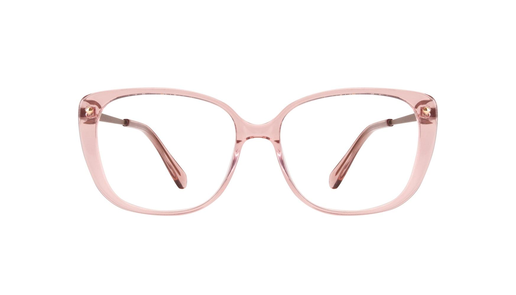 Affordable Fashion Glasses Square Eyeglasses Women Japonisme rose Front