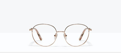 Affordable Fashion Glasses Round Eyeglasses Women Joy Petite Rose Metal Front
