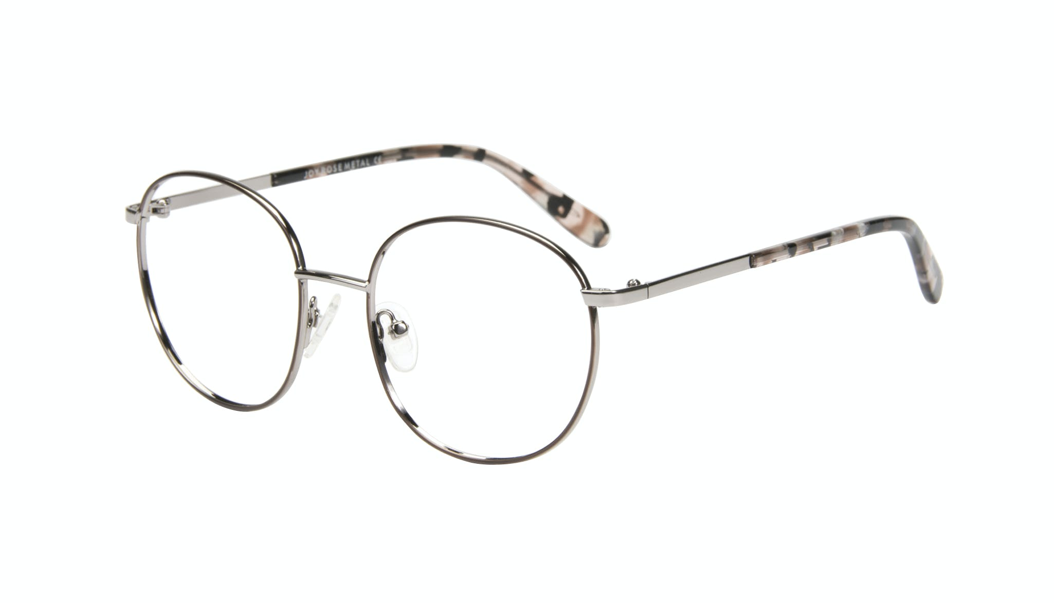 Affordable Fashion Glasses Round Eyeglasses Women Joy Rose Metal Tilt