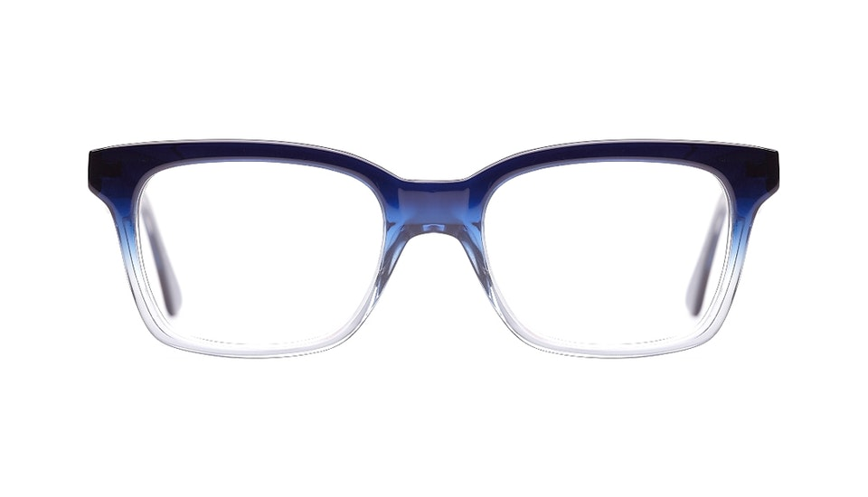 Affordable Fashion Glasses Square Eyeglasses Women Jungle Chic Mystic Blue Front