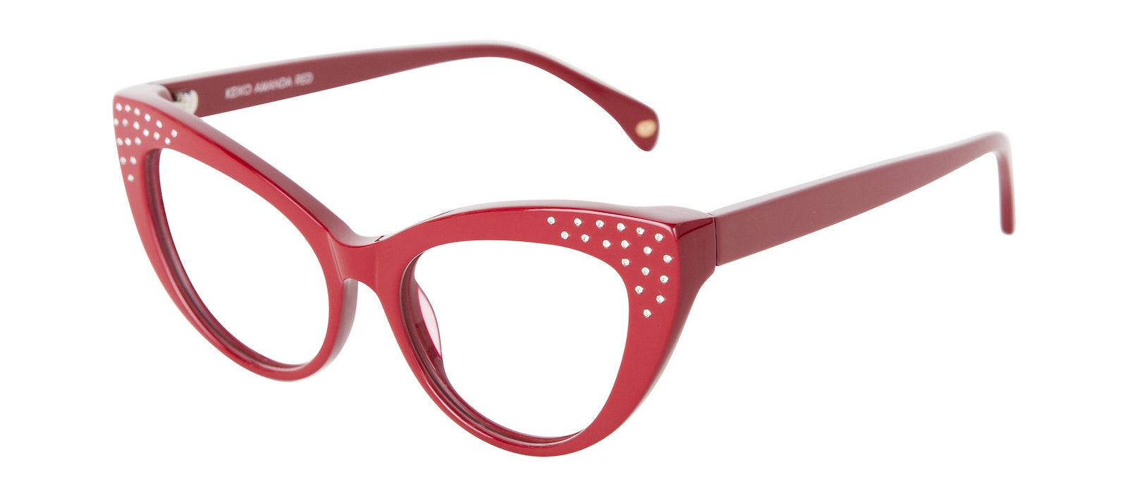 Affordable Fashion Glasses Cat Eye Daring Cateye Eyeglasses Women Keiko Amanda Red Tilt