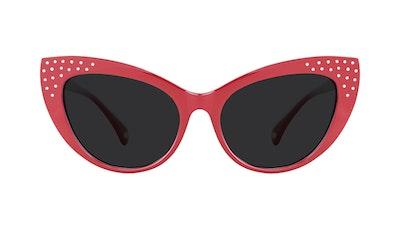 Affordable Fashion Glasses Cat Eye Daring Cateye Sunglasses Women Keiko Amanda Red Front