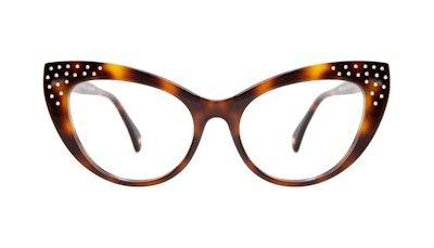 Affordable Fashion Glasses Cat Eye Daring Cateye Eyeglasses Women Keiko Nicole Brunette Front