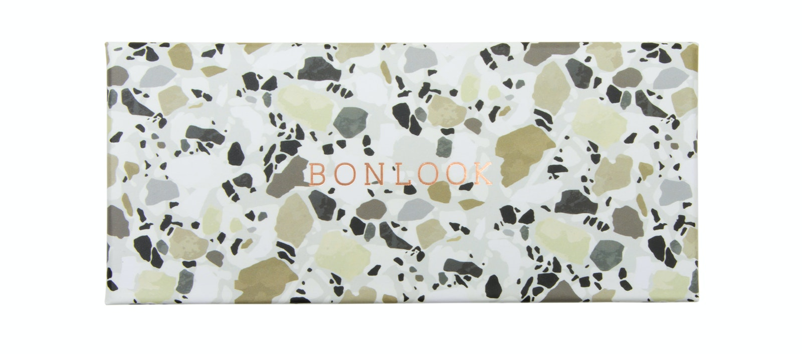 Affordable Fashion Glasses Accessory Men Women Classic Bonlook Case Khaki Terrazzo Tilt