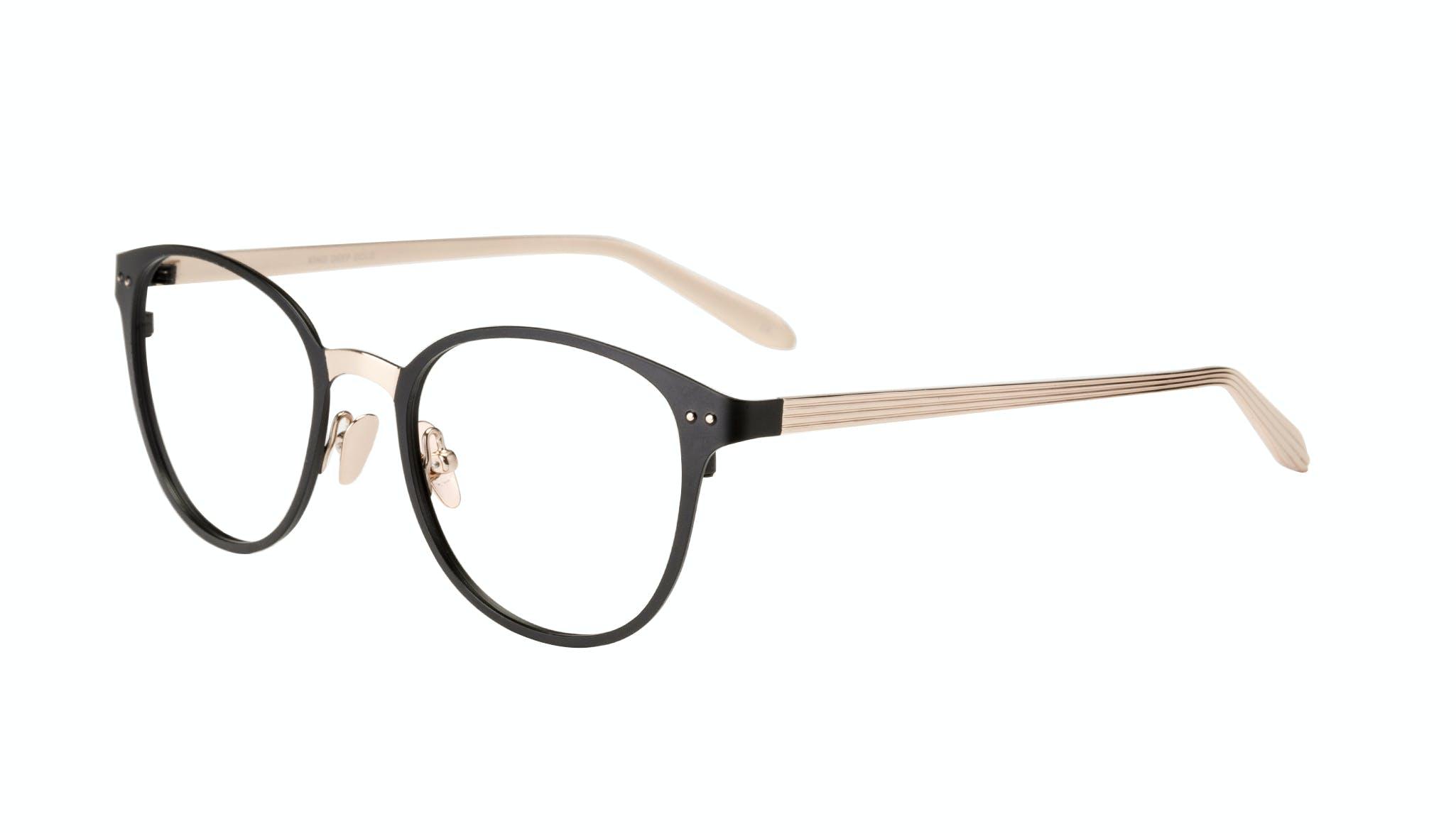 Affordable Fashion Glasses Rectangle Eyeglasses Women Kind Deep Gold Tilt