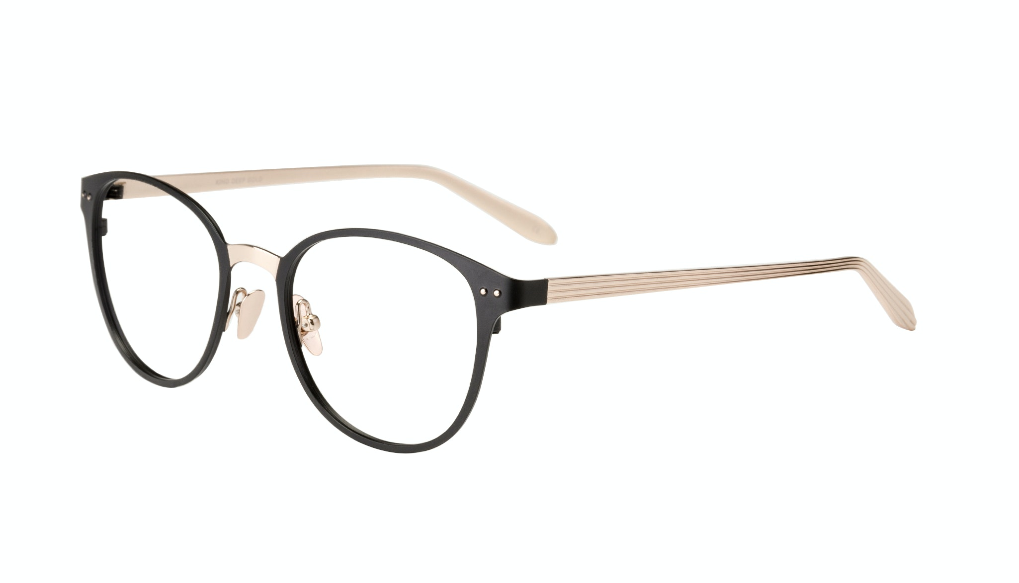 Affordable Fashion Glasses Rectangle Eyeglasses Women Kind Deep Gold Tilt