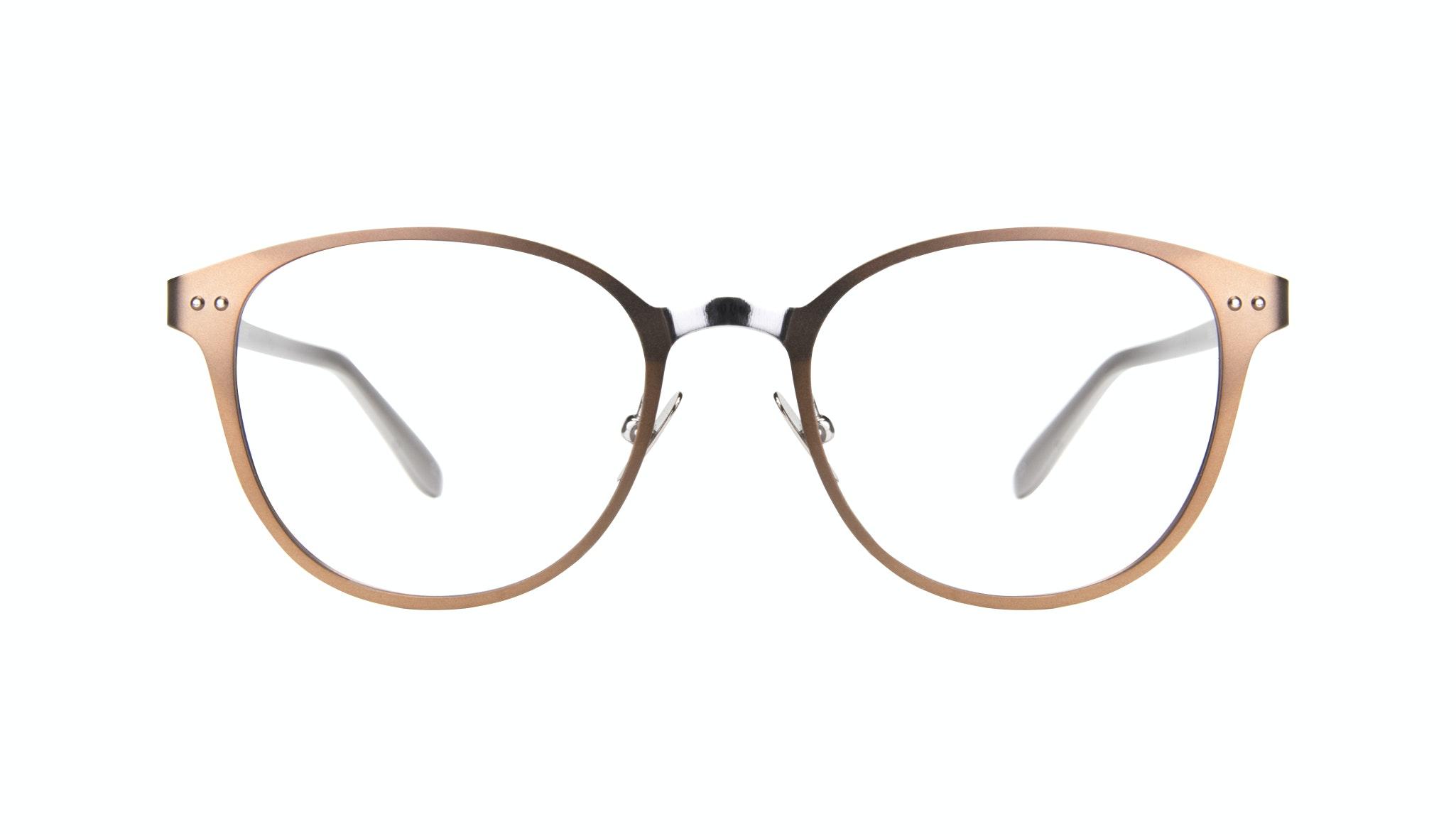 Affordable Fashion Glasses Rectangle Eyeglasses Women Kind Hazel Silver Front