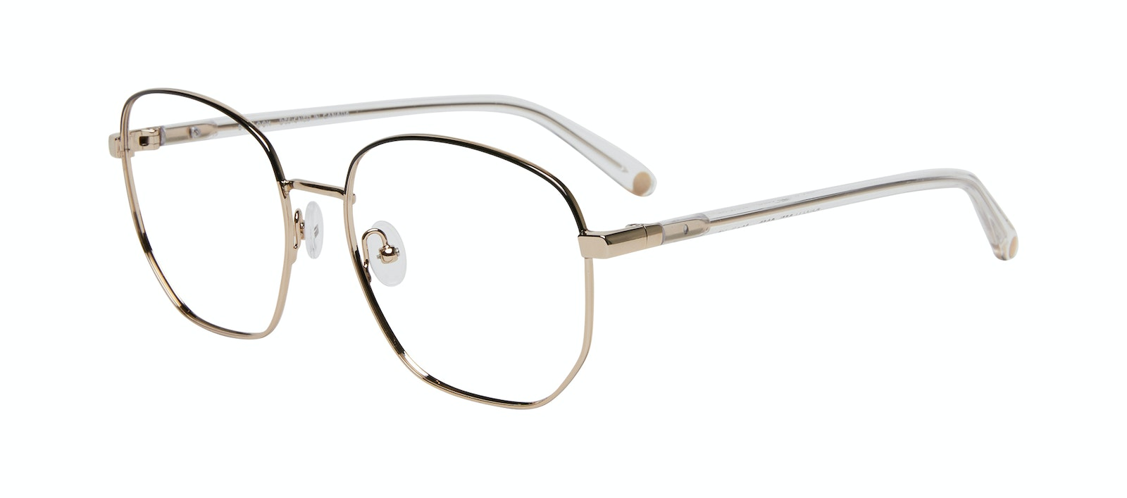 Affordable Fashion Glasses Round Eyeglasses Women Laïka Deep Gold Tilt