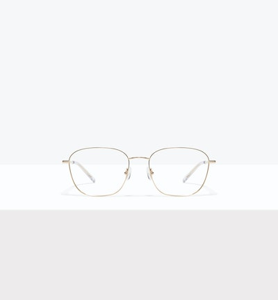 Affordable Fashion Glasses Square Eyeglasses Women Lane Gold Front